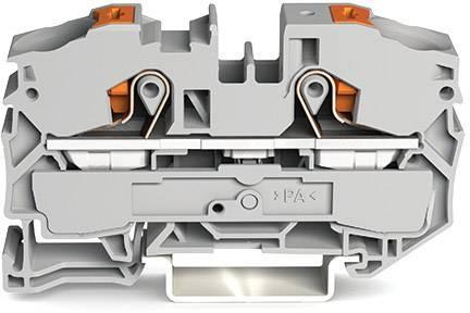 Průchodková svorka WAGO 2216-1201, pružinové připojení , 12 mm, šedá, 20 ks