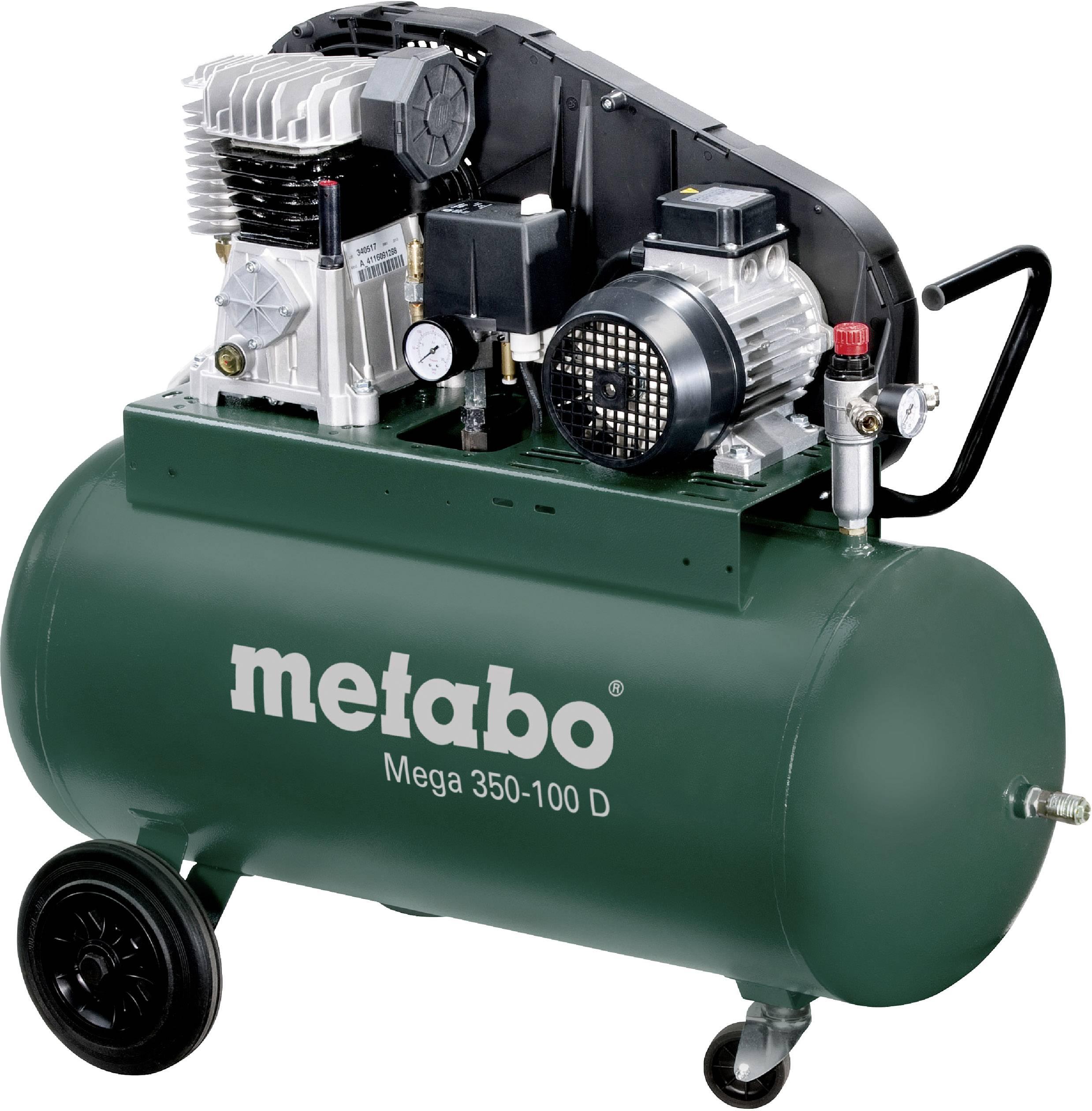 Pístový kompresor Metabo Mega 350-100 D 601539000, objem tlak. nádoby 90 l