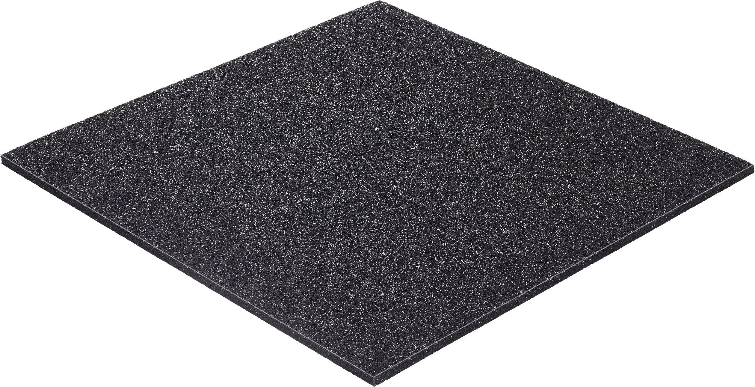 Disipativní ESD pěna Wolfgang Warmbier 4550, 300 x 300 x 6 mm, černá