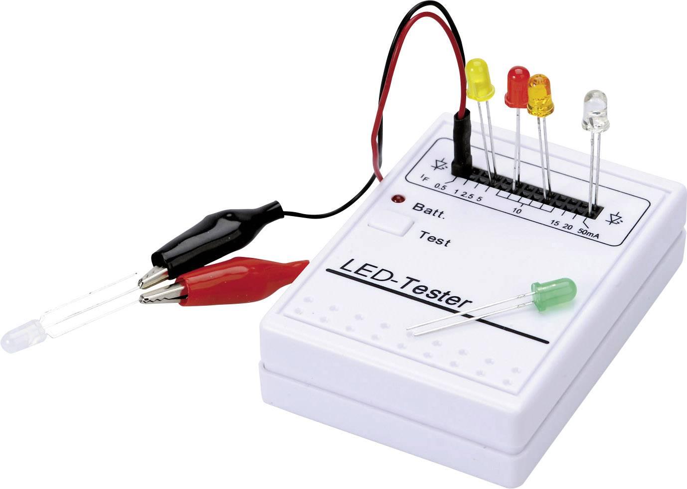 LED tester pro normální a LC-LED (1/3/5/8/10 mm), provozní napětí 9 V