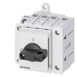Odpínač Siemens 3LD32301TL11, 32 A, 690 V/AC 1 spínací kontakt, 1 rozpínací kontakt černá 4pólový 16 mm²