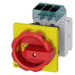 Odpínač Siemens 3LD33541TK53, 40 A, 690 V/AC 1 spínací kontakt, 1 rozpínací kontakt červená, žlutá 3pólový 16 mm²