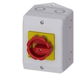 Odpínač Siemens 3LD21641GP53, 25 A, 690 V/AC 1 spínací kontakt, 1 rozpínací kontakt červená, žlutá 3pólový 16 mm²