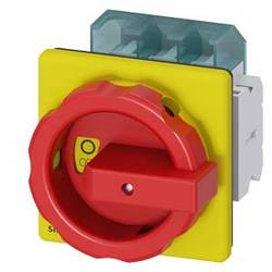 Odpínač Siemens 3LD25041TP53, 63 A, 690 V/AC 1 spínací kontakt, 1 rozpínací kontakt červená, žlutá 3pólový 35 mm²