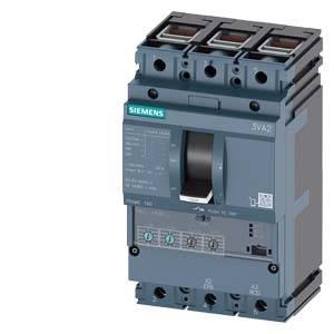 Výkonový vypínač Siemens 3VA2110-5HN36-0HL0 4 přepínací kontakty Rozsah nastavení (proud): 40 - 100 A Spínací napětí (max.): 690 V/AC (š x v x h) 105 x 181 x 86 mm 1 ks