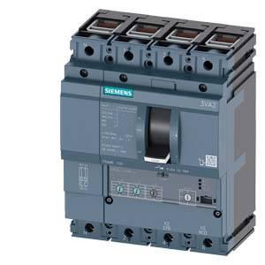 Výkonový vypínač Siemens 3VA2063-8HL46-0AA0 Rozsah nastavení (proud): 25 - 63 A Spínací napětí (max.): 690 V/AC (š x v x h) 140 x 181 x 86 mm 1 ks