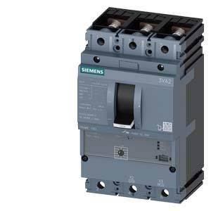 Výkonový vypínač Siemens 3VA2163-7MS32-0CA0 Rozsah nastavení (proud): 25 - 63 A Spínací napětí (max.): 690 V/AC (š x v x h) 105 x 181 x 86 mm 1 ks