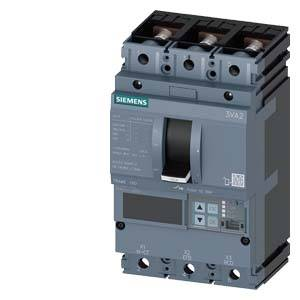 Výkonový vypínač Siemens 3VA2110-5JQ32-0DH0 3 přepínací kontakty Rozsah nastavení (proud): 40 - 100 A Spínací napětí (max.): 690 V/AC (š x v x h) 105 x 181 x 86 mm 1 ks