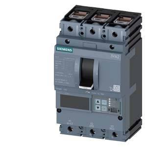 Výkonový vypínač Siemens 3VA2110-5JQ36-0AA0 Rozsah nastavení (proud): 40 - 100 A Spínací napětí (max.): 690 V/AC (š x v x h) 105 x 181 x 86 mm 1 ks