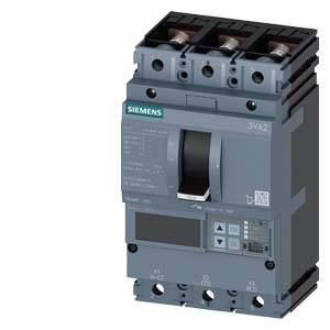 Výkonový vypínač Siemens 3VA2110-5KP32-0BH0 3 přepínací kontakty Rozsah nastavení (proud): 40 - 100 A Spínací napětí (max.): 690 V/AC (š x v x h) 105 x 181 x 86 mm 1 ks