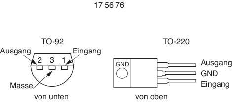 Stabilizátor napětí LP 2950 CZ 5 V 100 mA TO92