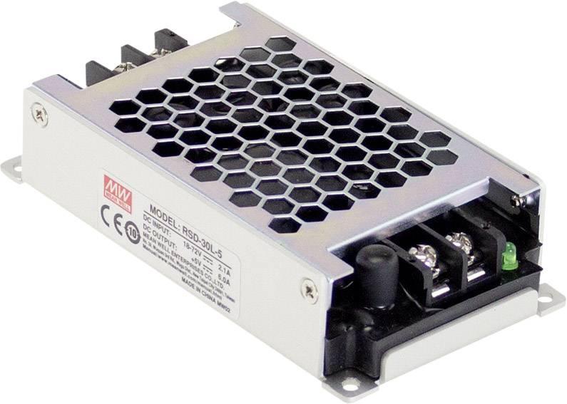 DC/DC měnič napětí do auta Mean Well RSD-30G-24 24 V/DC/1.25 A
