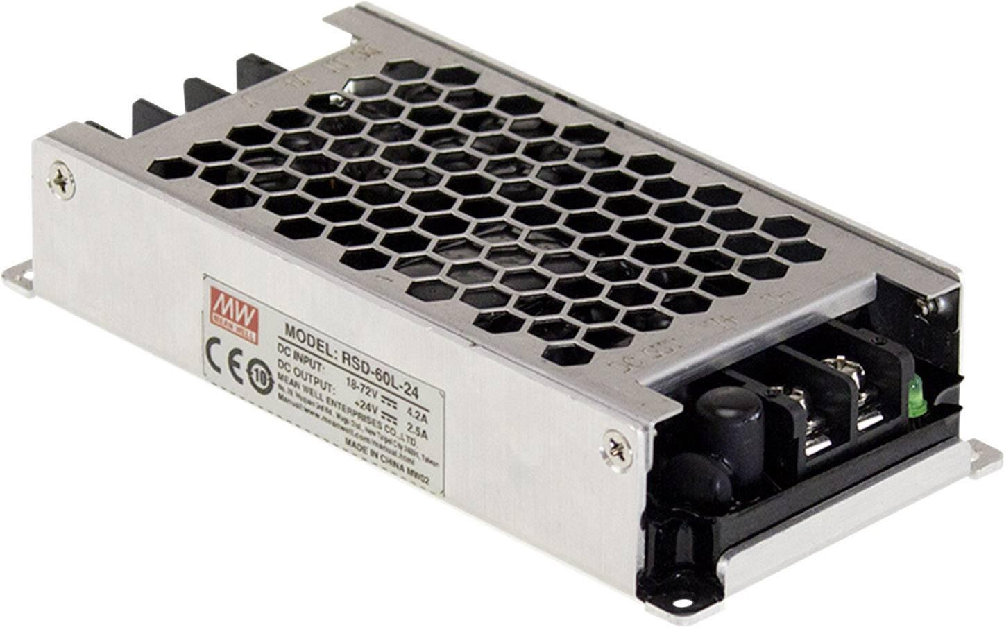 DC/DC měnič napětí do auta Mean Well RSD-60G-5 5 V/DC/12 A