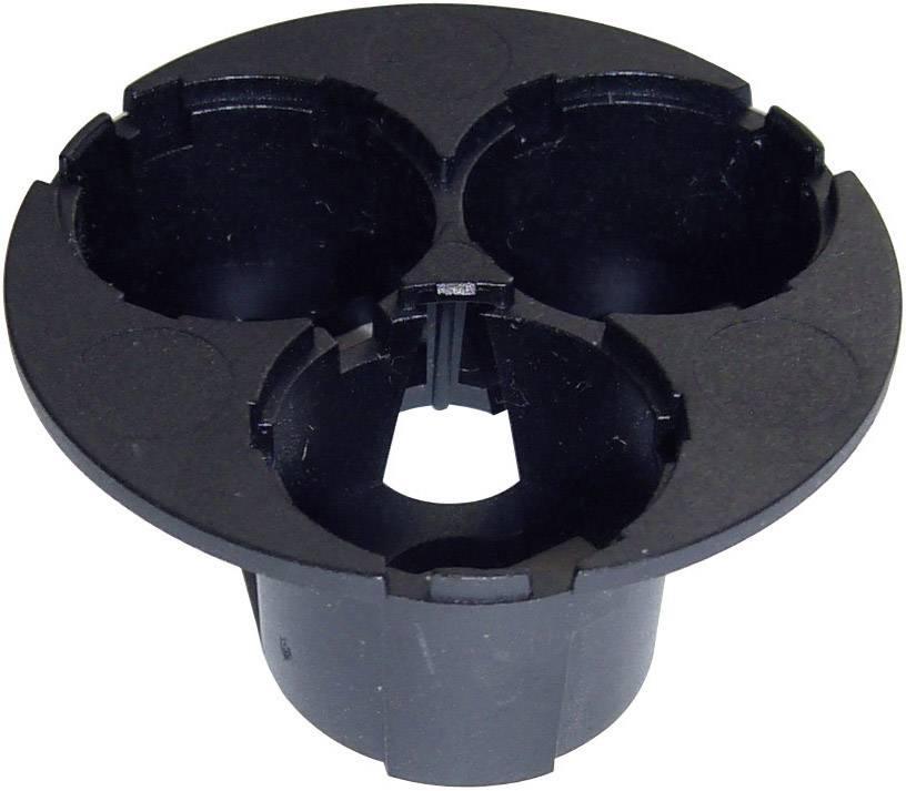 3dílný držák pro přímou optiku 20 mm - černý