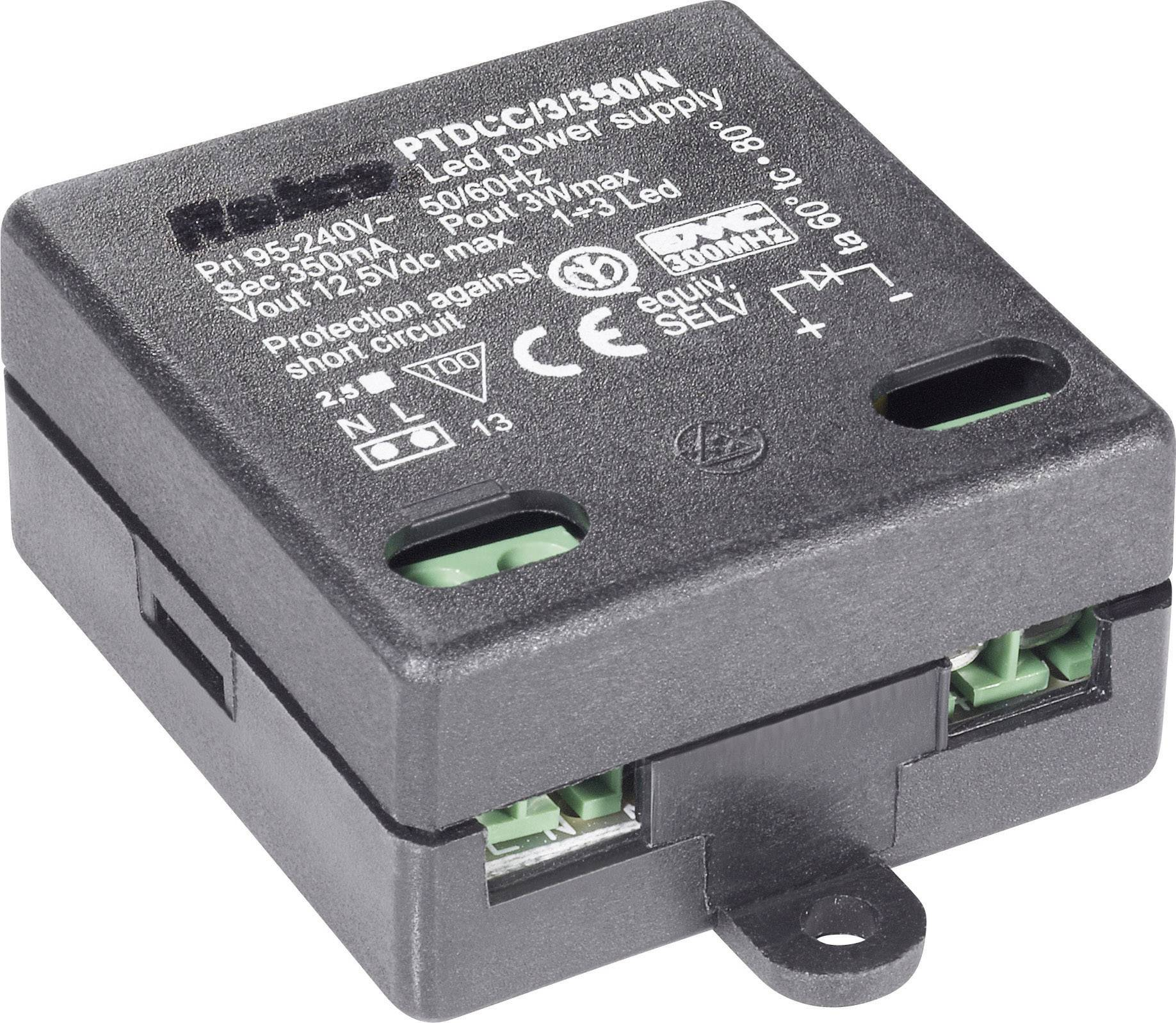 Spínaný zdroj pro LED, 95 - 240 V/AC, 350 mA, 3 W