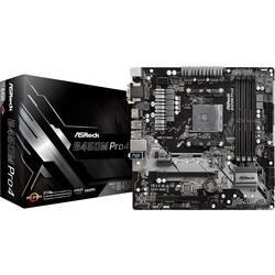 Základní deska ASRock B450M-Pro4 Socket AMD AM4 Tvarový faktor Micro-ATX Čipová sada základní desky AMD® B450