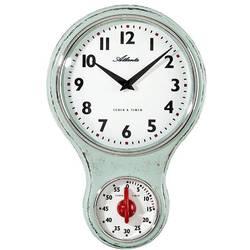 Quartz nástěnné hodiny Atlanta Uhren Nostalgie 6124/6, světle zelená