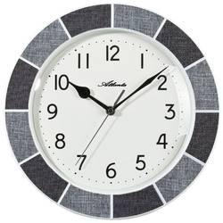 Quartz nástěnné hodiny Atlanta Uhren 6126/4, vnější Ø 300 mm, šedá