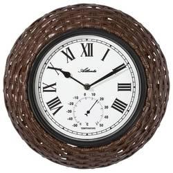 Quartz nástěnné hodiny Atlanta Uhren 4477, vnější Ø 330 mm, hnědá