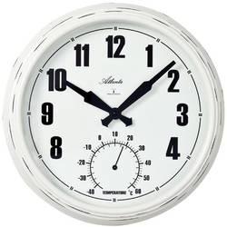 DCF nástěnné hodiny Atlanta Uhren 4478, vnější Ø 305 mm, bílá