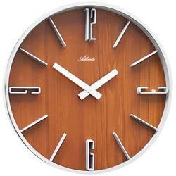 Quartz nástěnné hodiny Atlanta Uhren 4426/20, vnější Ø 300 mm, stříbrná
