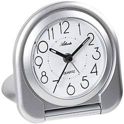 Quartz budík Atlanta Uhren 1909/19, stříbrná