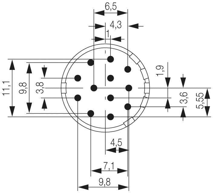 Konektorová vložka, zásuvka Weidmüller 1224170000, 1 ks