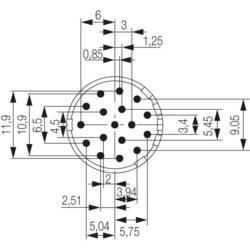 Zástrčková vložka Weidmüller 1224650000, 1 ks