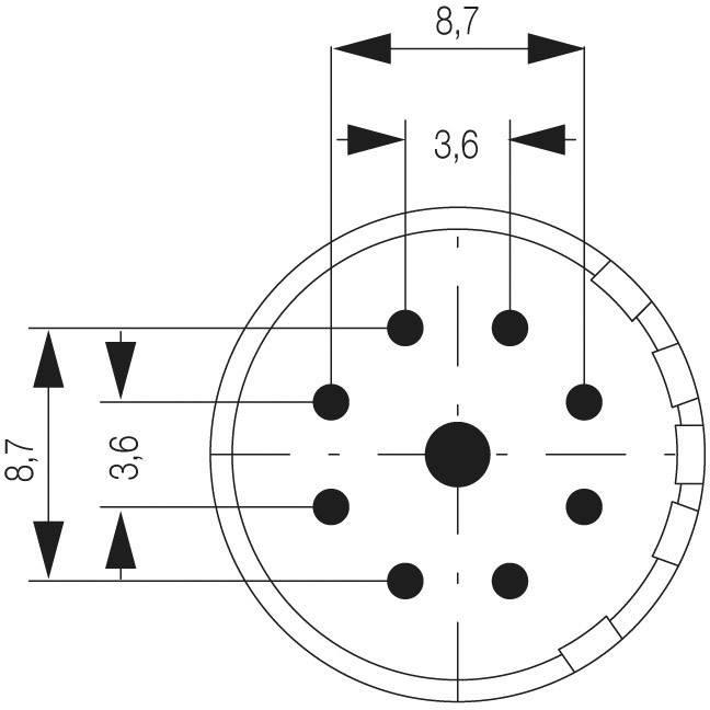Zástrčková vložka Weidmüller 1224550000, 1 ks