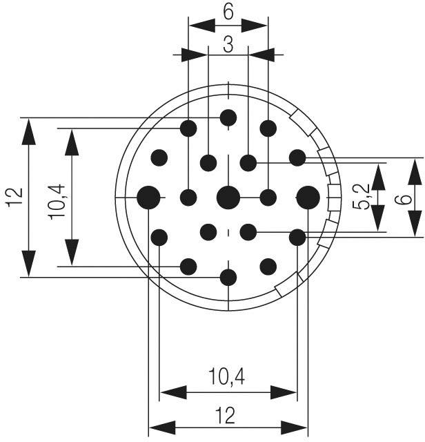 Konektorová vložka, zásuvka Weidmüller 1224440000, 1 ks
