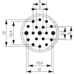Súprava konektorovej zásuvky Weidmüller 1224440000, 1 ks