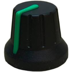 Otočný knoflík s ukazatelem PSP 49009-GREEN, (Ø x v) 18.8 mm x 15.24 mm, černá, zelená, 1 ks