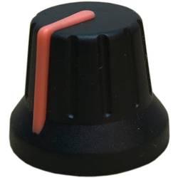 Otočný knoflík s ukazatelem PSP 49009-OR, (Ø x v) 18.8 mm x 15.24 mm, černá, oranžová, 1 ks
