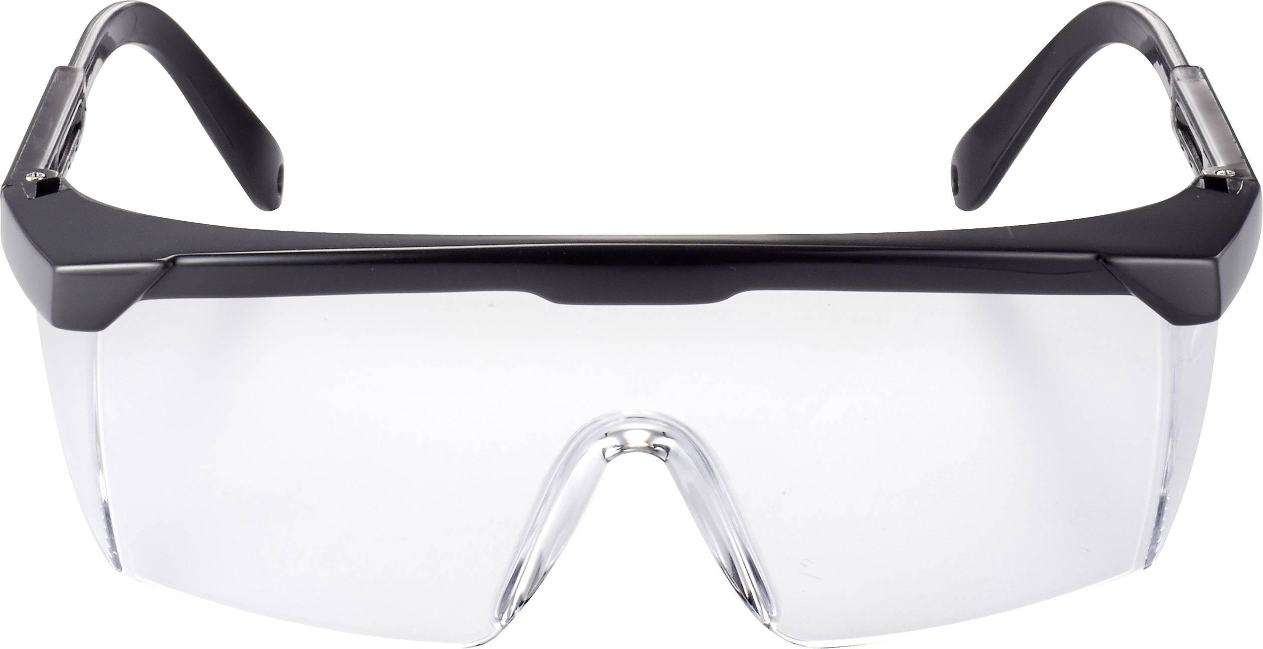 Ochranné brýle Toolcraft, čiré, černé TOOLCRAFT TO-5343210