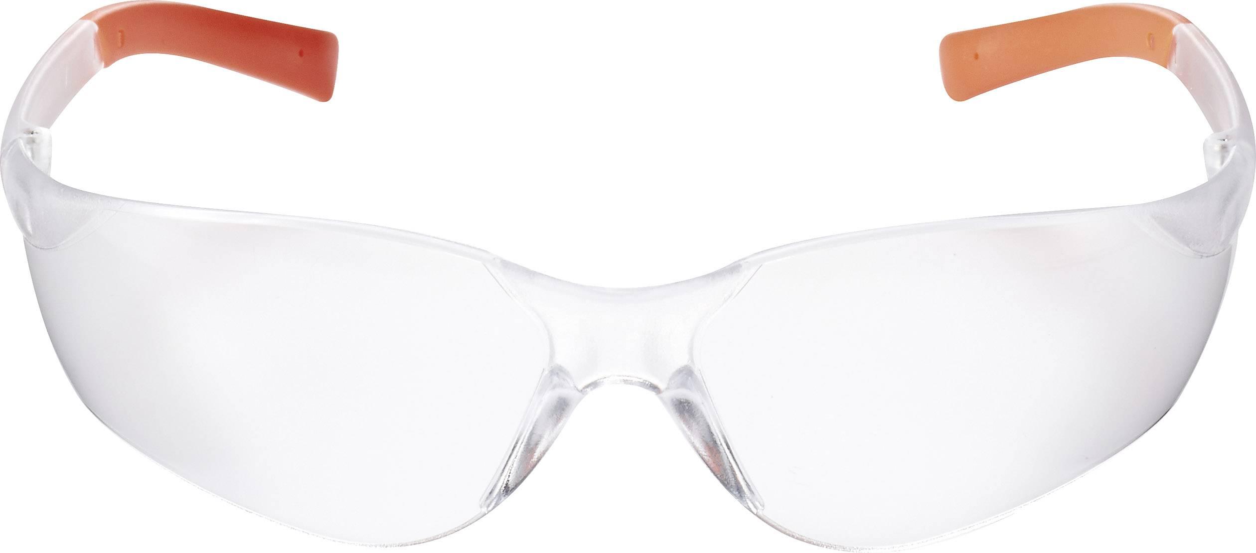 Ochranné brýle Toolcraft, čiré, oranžové TOOLCRAFT TO-5343213