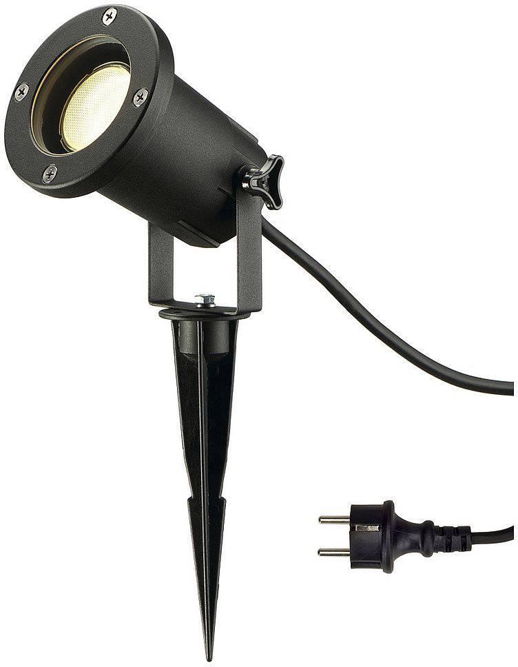 LED zahradní reflektor SLV Doran 15 1002514, GU10, 11 W, černá