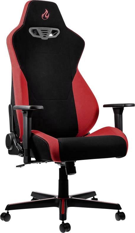 Herná stolička Nitro Concepts S300 Inferno Red, NC-S300-BR, čierna, červená
