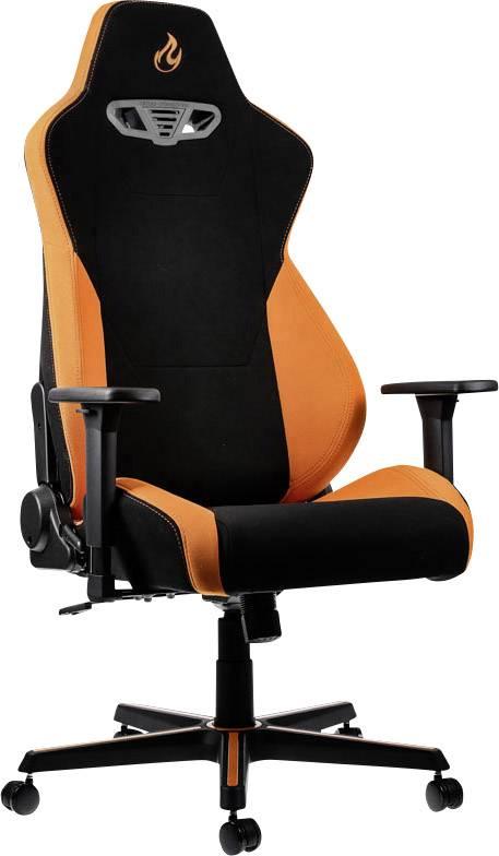 Herná stolička Nitro Concepts S300 Horizon Orange, NC-S300-BO, čierna, oranžová