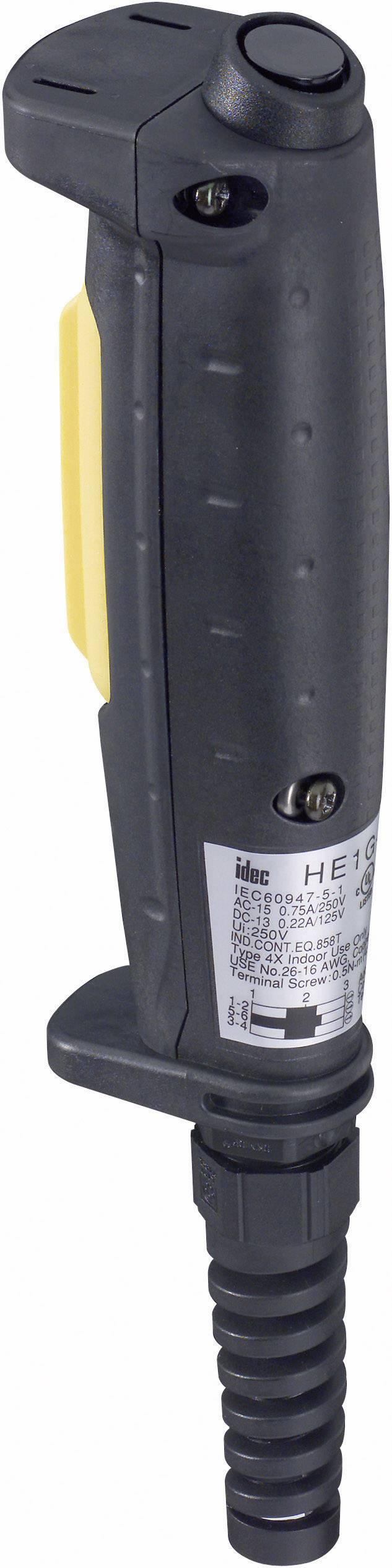 Ručné tlačidlo Idec HE1G-21SMB, 250 V/AC, 3 A, 1 ks