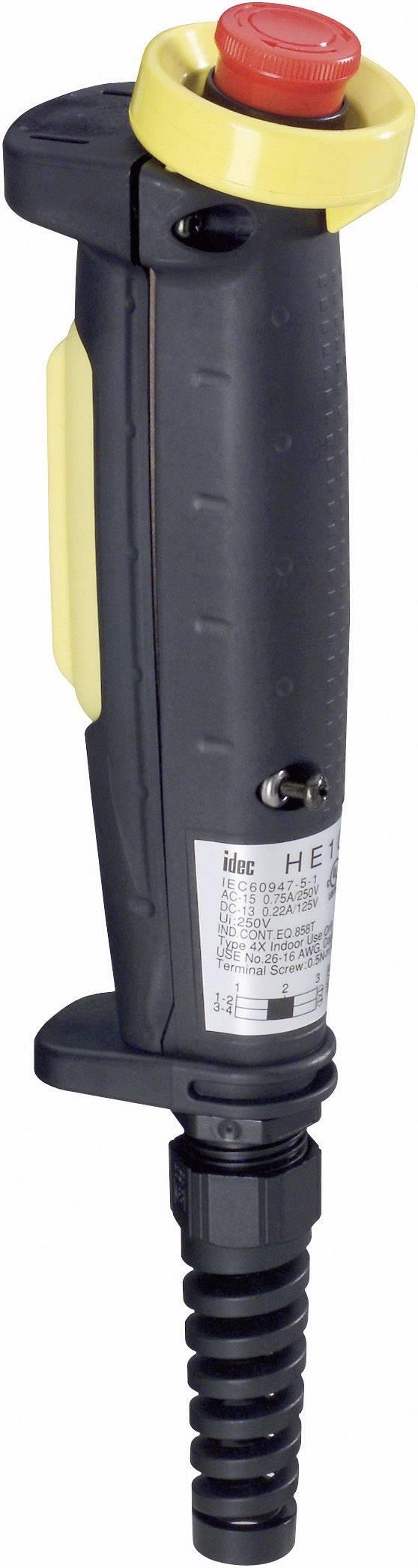 Ručné tlačidlo Idec HE1G-20ME, 250 V/AC, 3 A, 1 ks