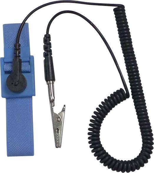ESD náramek TRU COMPONENTS 178756, světle modrá, černá