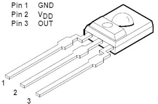 Světelný senzor Taos, TSL 235 R, THT, (±10 %) 5 V