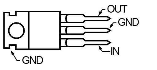 Regulátor napětí ST Microelectronics 7808, 8 V, 1A, kladný, TO 220