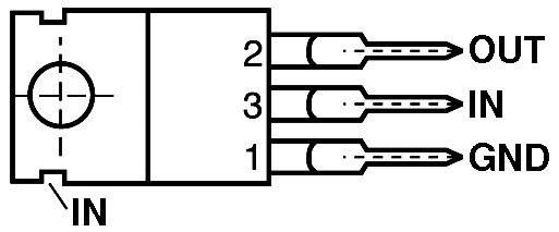 Stabilizátor pevného napětí IC L7905 CV TO 220
