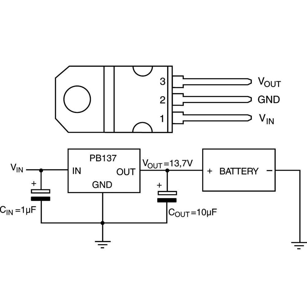 Lineární regulátor napětí STMicroelectronics PB137ACV, 13