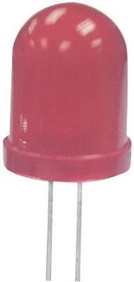 LEDsvývodmi Kingbright L-793SRD-E, typ šošovky guľatý, 8 mm, červená