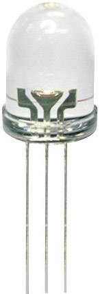 ViacfarebnáLED Kingbright L-115WEGW, typ čočky guľatý, 3 mm, 60 °, 20 mA, 40 mcd, 35 mcd, 2 V, 2.2 V, červená, zelená