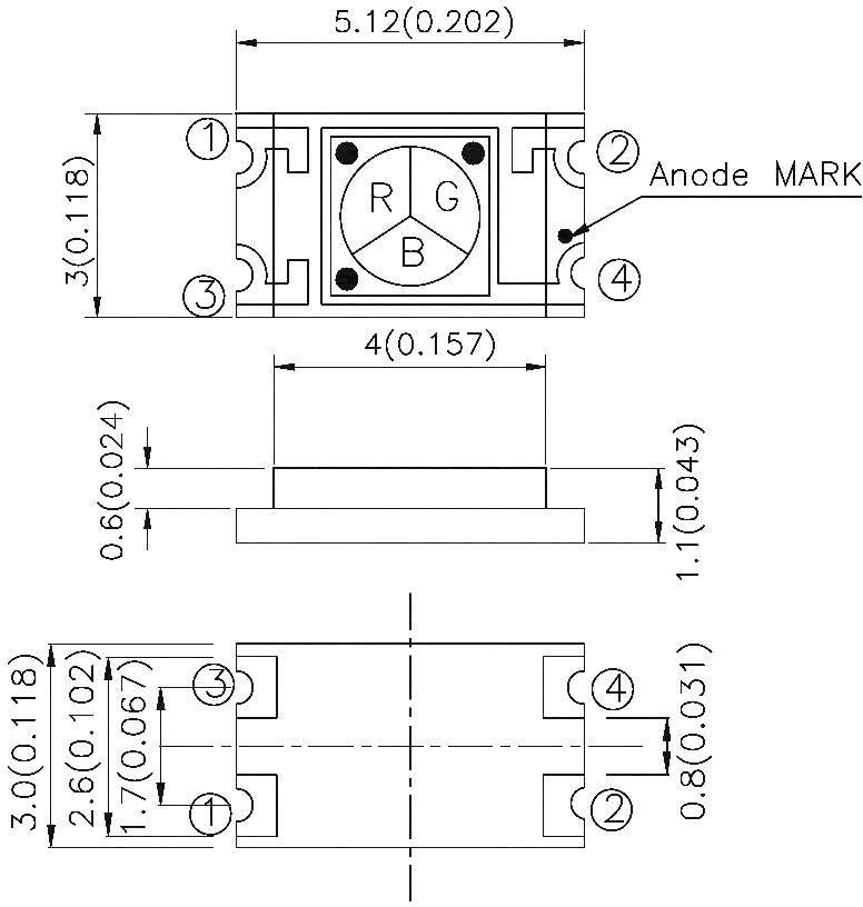 RGB senzor Kingbright KPS-5130PD7C, SMD