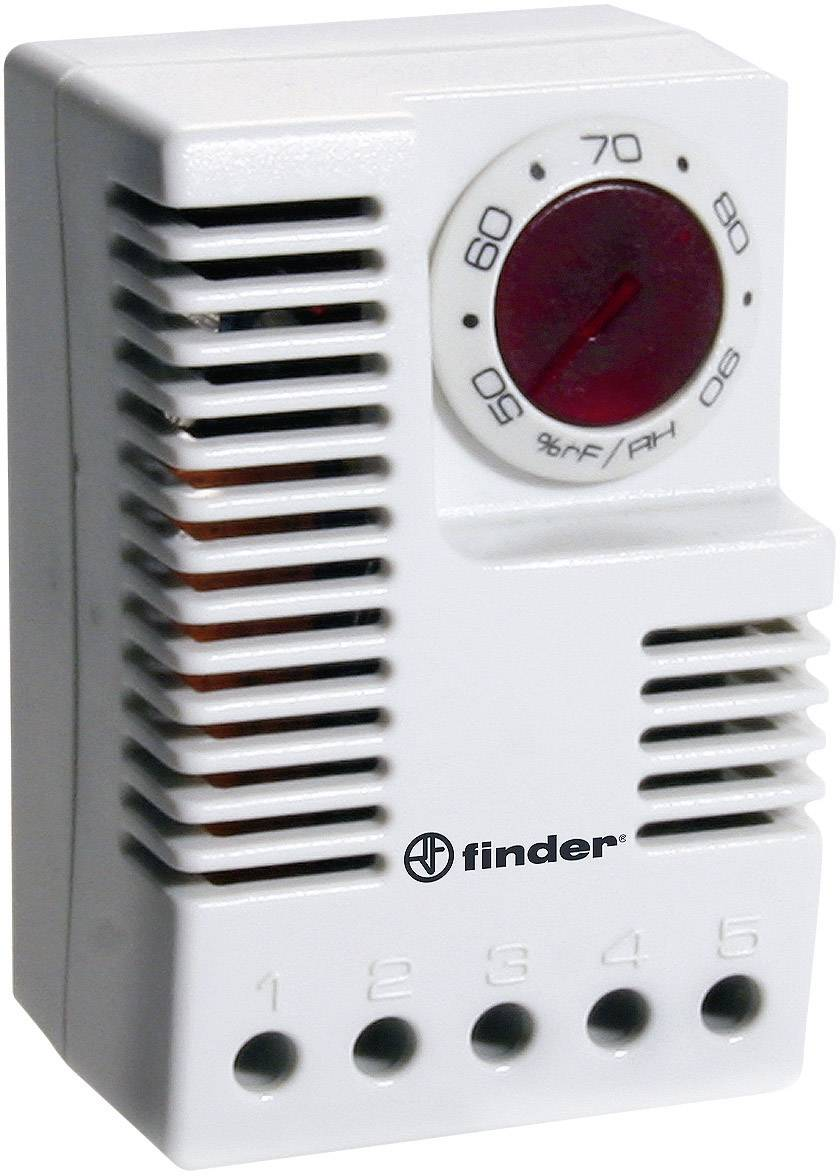 Hygrostat do skriňového rozvádzača Finder 7T.91.8.230.3040 7T.91.8.230.3040, 230 V/AC, 1 prepínací, (d x š x v) 64.5 x 42 x 38 mm