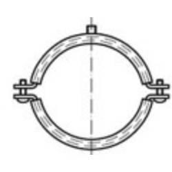 TOOLCRAFT DIN 4109 ocel + Dammeinlage galvanicky pozinkované trubkové úchyty s ochrannou vložkou DIN 4109, rozměry: 32-35 M8/M10 N/A 35 mm 100 ks